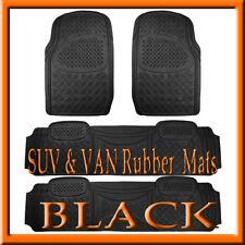 Fits 4 PCS TOYOTA SIENNA  HEAVY DUTY  BLACK RUBBER FLOOR MATS / FULL SET