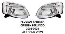 PEUGEOT PARTNER CITROEN BERLINGO HEADLAMPS HEAD LAMP LIGHT LIGHTS HEADLIGHTS 02-