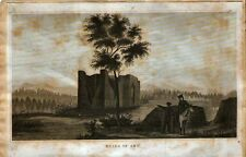 RUINS OF ABO - JW ABERT - ENGRAVING / LITHOGRAPH 1848