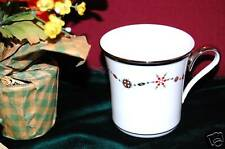 (4) Lenox Solitaire White CHRISTMAS Accent Mugs NEW USA