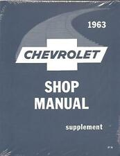 1963 CHEVROLET PASSENGER CAR SHOP MANUAL SUPPLEMENT
