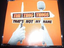 The Ting Tings That's Not My Name Australian CD Single – New
