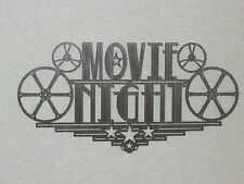 Large Movie Night Home Theater Wall Decor Sign Reels Theater Cinema