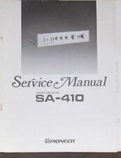 Pioneer SA-410 amplificatore HiFi Servizio di Riparazione Officina Manuale (copia originale)