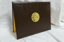 Wyoming Deluxe Padded Diploma Certificate Cover Case Holder silk corners brown
