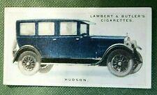 HUDSON SUPER SIX  SEDAN    Original 1926 Vintage Colour Card