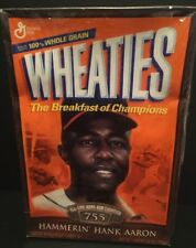2001 General Mills WHEATIES Cereal Box w/ Hank Aaron Home Run Champion Full RARE