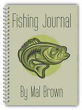 A5 FISHING LOG BOOK/ DAILY FISHING DIARY/ A5 PERSONALISED FISHERMAN'S GIFT/NEW 2