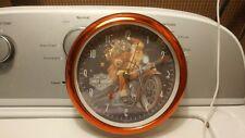 RARE Harley Davidson Motorcycle Santa Claus Christmas Advertising Musical Clock