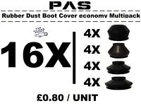 UNIVERSAL TRACK ROD END BALL JOINT RUBBER DUST BOOT COVERS GAITERS MULTIPACK 16X
