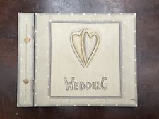 Wooden Wedding Gift Book 25 Paper Pages Hinged Wooden Cover