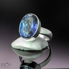 Gorgeous 925 Sterling Silver Mystic London Blue Topaz Gemstone Ring Gift Boxed