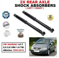 REAR SHOCK ABSORBERS for VW SHARAN 1.8 T 2.0 2.8 VR6 1.9 TDi 4Motion 1995-2010