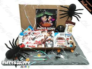 Kinder Halloween Party Treat Gift Box Sweets Mix Candy Hamper Personalised