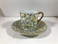 Vintage INARCO Porcelain Mini Tea Cup Demitasse Yellow Rose Saucer