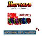 Harrows Rapide X Dart Flights 100 Micron Standard Shape- NEW