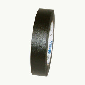Shurtape CP-631 Colored Masking Tape: 1 in. x 60 yds. (Black)