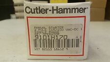 CUTLER HAMMER MANUAL STARTER 2 POLE 9101H170 SINGLE PHASE