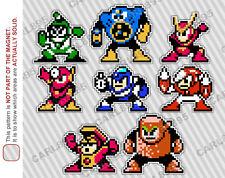 8bit Mega Man 2 Villain Cast Car/Refrigerator Magnets
