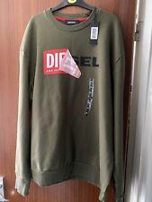 diesel sweatshirt Khaki Colour Size Xl With Big Peeling Logo New With Tags