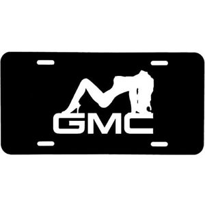 ALUMINUM LICENSE PLATE  GMC Chick many colors/reflective colors