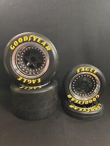 1/4 Scale Wheel & Tire Set Chrome/Black (4)