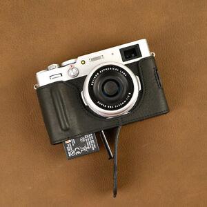 Handmade Genuine Real Leather Half Camera Case Bag Cover for FUJIFILM X100V