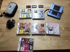 NINTENDO DS Handheld Spielekonsole inklusive 9 Spielen und Tasche