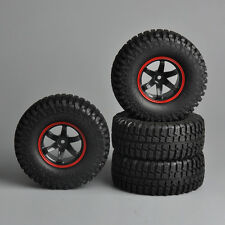 """Set of 4 Rubber Rock Crawler 1.9"""" Tires&Wheels 12mm Hex For RC 1/10 Car Truck 02"""