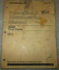 Cat Caterpillar 3406b Truck Engine Operation Amp Maintenance Manual Original 1988