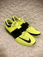 NIKE ROMALEOS 3 mens size 14 WEIGHT LIFTING SHOES VOLT BLACK NEW 852933-700
