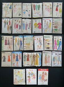 Vintage Sewing Patterns 1950s / 1960s / 1970s – Sold Individually