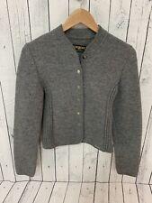 VTG GEIGER AUSTRIA Women's Wool Cardigan Sweater Jacket Gray Size 42