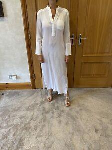 James Perse White Long Cotton Dress/size 1/UK 8