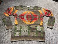 Ralph Lauren Denim Supply Womens M WOOL Southwest KNIT Sweater Aztec Tribal