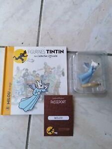 Figurine TINTIN N°40 MILOU mi-ange + livret et passeport
