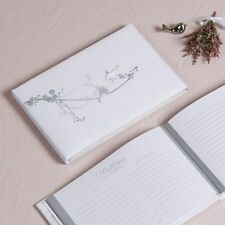 Guestbook Lovebirds White Wedding Embroidered Traditional