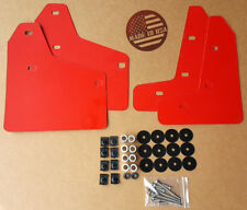 StreetRays Mud Flaps Set RED w/ Hardware Kit & Logo for 10-14 VW MK6 Golf GTI