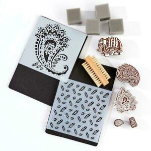 Anna Griffin 13-Piece Block Printing Stamp and Tool Kit 39539 NEW
