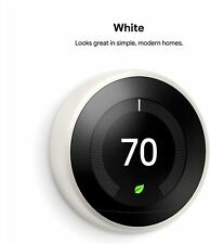 Google Nest Learning Thermostat 3rd Generation - White | BRAND NEW T3017US