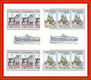 CZECHOSLOVAKIA 1985 PRAGUE CASTLE architecture x2 M/S  MNH  Sc#2579-80  BRIDGE