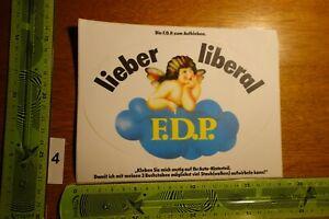 Alter Aufkleber Politik Partei Europa FDP (FB)