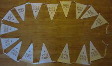 Mr & Mrs paper bunting - 5m - white vintage style wedding hanging decoration NEW