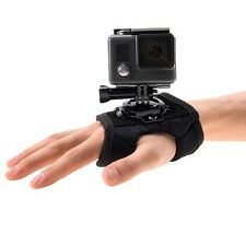 GOPRO HERO 5 4 SESSION 3+ 3 PULUZ 360 ROTATION HAND GLOVE MOUNT PALM STRAP BAND