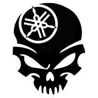 Calavera logo  yamaha Tuning sticker, auto Fun pegatinas, sticker-Bomb