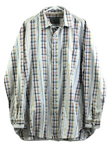 Vintage The Territory Ahead Button Up Shirt Mens LT Long Sleeve 100% Cotton Euc