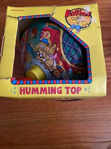 Vtg. Schylling Arthur Tin Spinning Top - Marc Brown's Character, RARE, 1998 BOX
