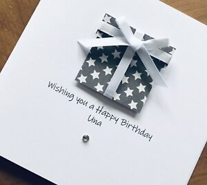 Personalised Handmade Birthday Cards 16, 18, 21, 30, 40, 50, 60, Present
