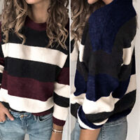 Size Women Ladies Long Sleeve Knitted Top Pullover Autumn Sweater Jumper UK 8-26