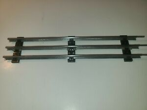 """Lionel / Marx O Scale Straight Track Tubular 3 Rail Steel 9"""" Section 8pc"""